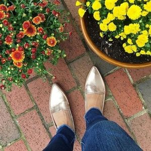 A New Day Rose Gold Pointy Toe Loafers
